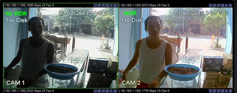 Lắp đặt camera quan sát cho hộ gia đình, nhà ở, Camera chống ngược sáng