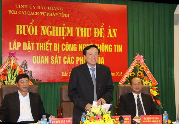 Bắc Giang lắp camera tại phòng xét xử sau án oan ông Chấn