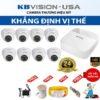 Trọn bộ 8 camera Kbvision