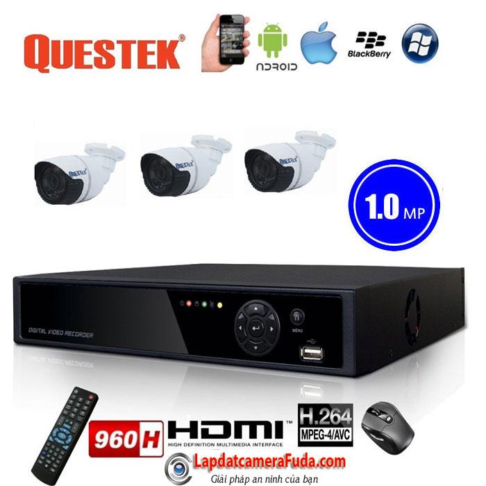 Lắp đặt trọn bộ 3 camera QUESTEK VP-4161AHD