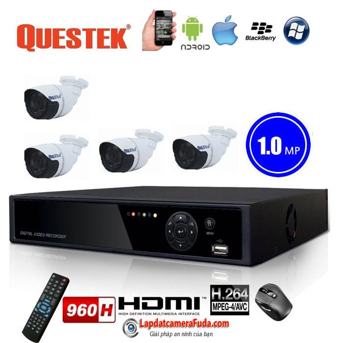Lắp đặt trọn bộ 5 camera QUESTEK VP-4161AHD