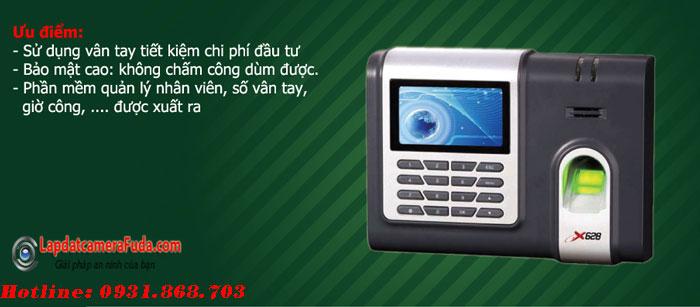 Máy Chấm Công Vân Tay - Thẻ RONALD JACK X628