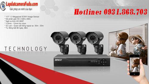Lắp đặt trọn bộ 4 camera nhập khẩu giá rẻ cho nhà ở, xưởng, cửa hàng