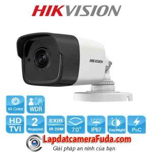 Camera Hikvision DS-2CE16D8T-ITE thân ống FullHD1080P hồng ngoại 20m siêu nhạy sáng PoC