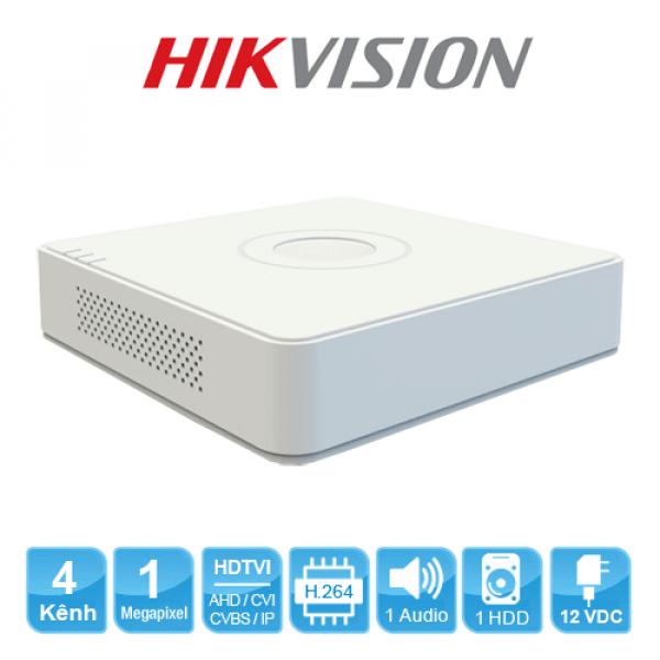 Đầu ghi hình Hikvision DS-7104HGHI-F1 Turbo HD 3.0 4 kênh vỏ nhựa ...