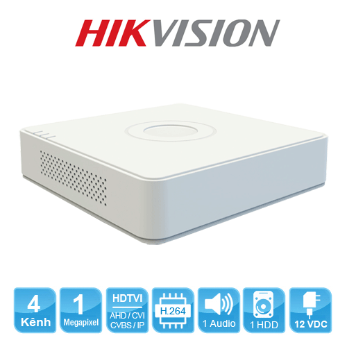 Đầu ghi hình Hikvision DS-7104HGHI-F1 Turbo HD 3.0 4 kênh vỏ nhựa