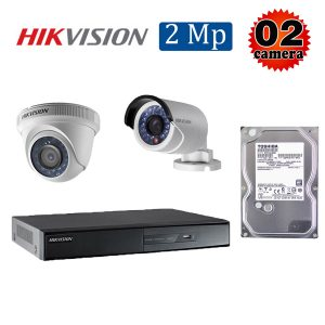Trọn bộ 2 camera giám sát 2M Hikvision