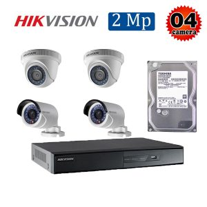 Trọn bộ 4 camera giám sát 2M Hikvision