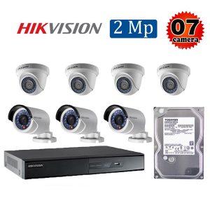 Trọn bộ 7 camera giám sát 2M Hikvision